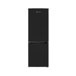 Fridgemaster MC50165B Black Fridge Freezer Closed